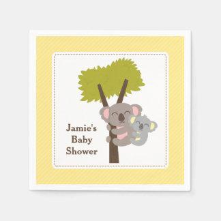 Cute Mommy Koala Bear Baby Shower Party Paper Napkin