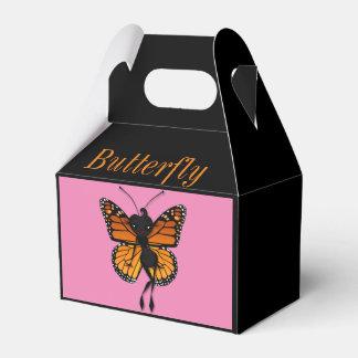 CUTE MONARCH BUTTERFLY LADY GABLE FAVOR BOX PARTY FAVOUR BOX