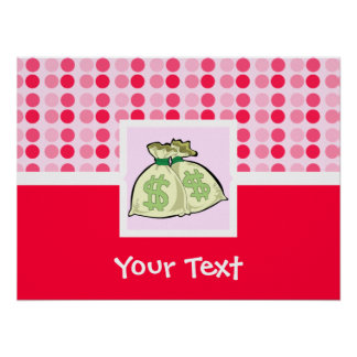 Cute Money Bags Posters