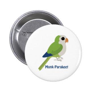 Cute Monk Parakeet Pinback Buttons
