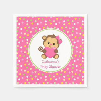 Cute Monkey Baby Shower Napkins Disposable Serviette