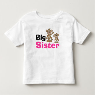 Cute Monkey Big Sister Tee Shirt