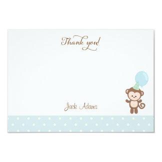 Cute Monkey Birthday Thank You Card 9 Cm X 13 Cm Invitation Card
