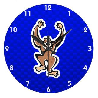 Cute Monkey; Blue Clock