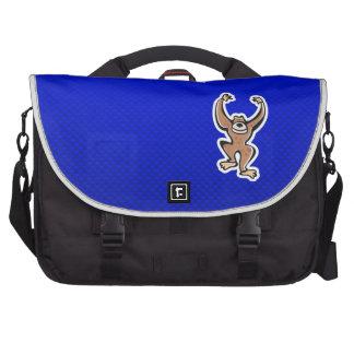 Cute Monkey; Blue Laptop Bags