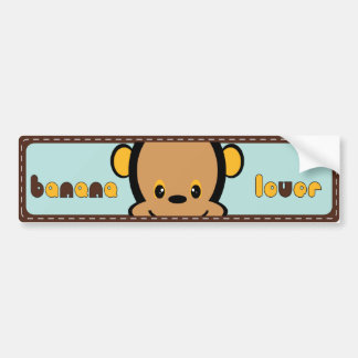 cute monkey bumper sticker