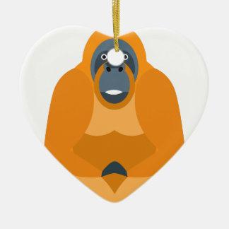 Cute monkey ceramic ornament