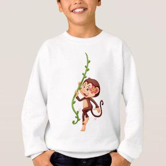 Cute monkey climbing the vine sweatshirt
