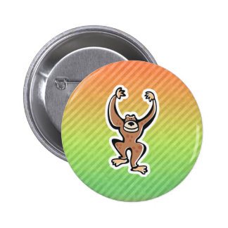 Cute Monkey Design Pinback Buttons