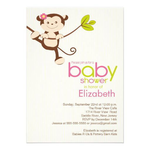 safari baby shower off right with our sweet jungle monkey baby shower