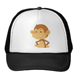 cute monkey trucker hats
