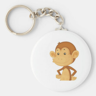 cute monkey key ring