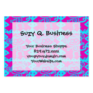 Cute Monkey Magenta Teal Animal Pattern Kids Gifts Pack Of Chubby Business Cards