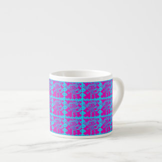Cute Monkey Magenta Teal Animal Pattern Kids Gifts Espresso Cup