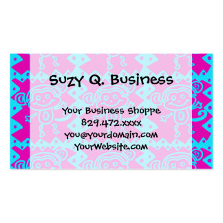 Cute Monkey Magenta Teal Animal Pattern Kids Gifts Pack Of Standard Business Cards