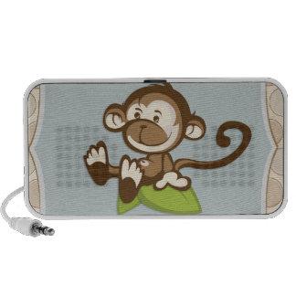Cute Monkey on a Leaf Speaker