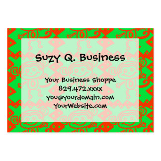 Cute Monkey Orange Green Animal Pattern Pack Of Chubby Business Cards