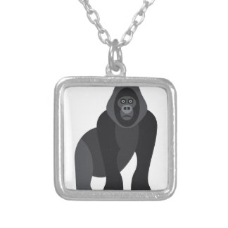 Cute monkey silver plated necklace