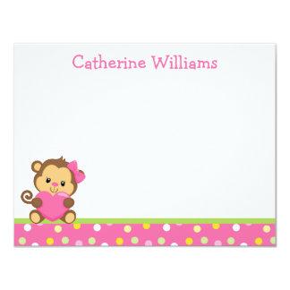 Cute Monkey Thank You Note 11 Cm X 14 Cm Invitation Card