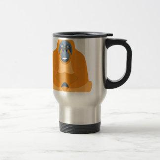 Cute monkey travel mug