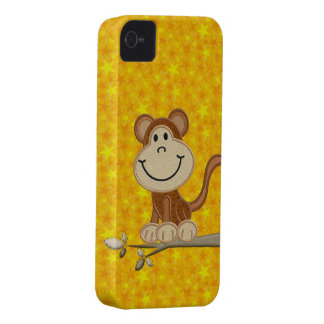Cute Monkey Yellow Stars iPhone 4/4S Case