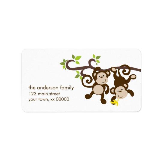 Cute Monkeys Address Label