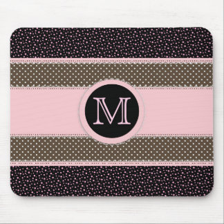 Cute Monogram Mouse Pad