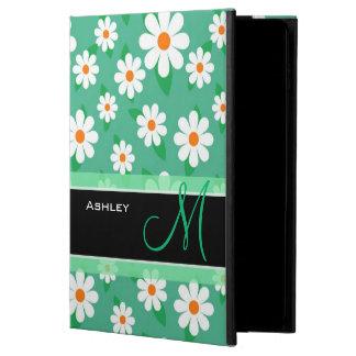 Cute Monogrammed Green Daisy Floral Flowers Powis iPad Air 2 Case