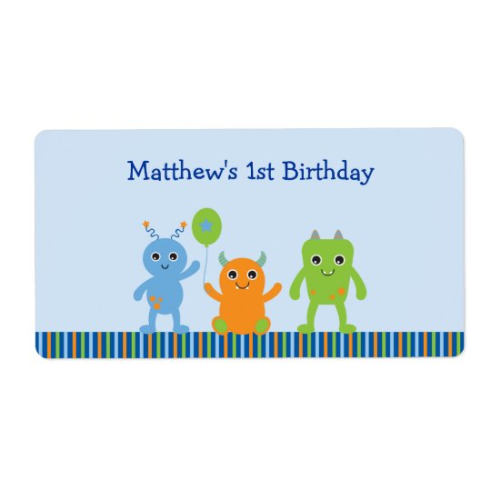 Cute Monster Baby Shower Party Favour