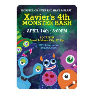 Cute Monster Bash Birthday Card
