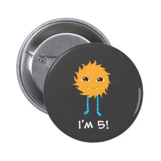 Cute Monster Birthday 6 Cm Round Badge
