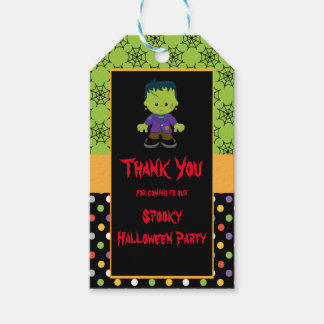 Cute Monster Boy Halloween Costume Party Gift Tags