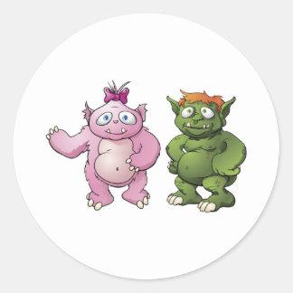 Cute monster cartoon characters sticker