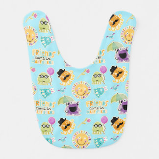 Cute Monster Friends Baby Bibs