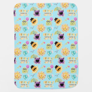 Cute Monster Friends Baby Blanket