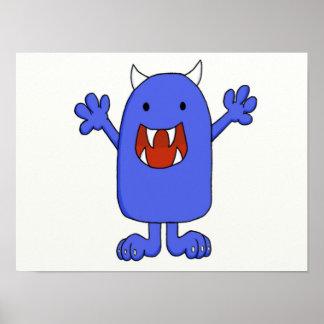 Cute Monster Poster