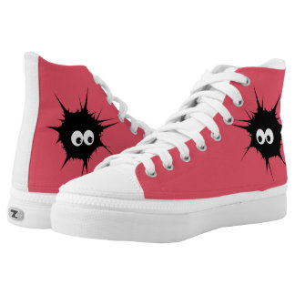 Cute monster printed shoes