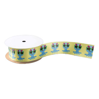 Cute Monster Satin Ribbon