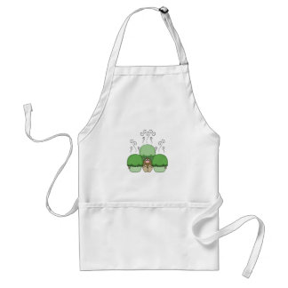 Cute Monster With Green Frosted Cupcakes Apron