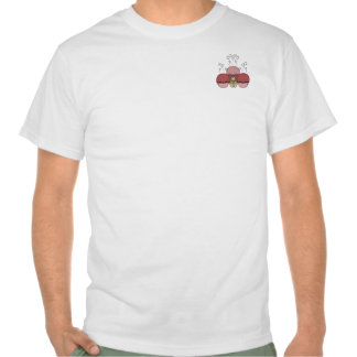 Cute Monster With Red Frosted Cupcakes Tees