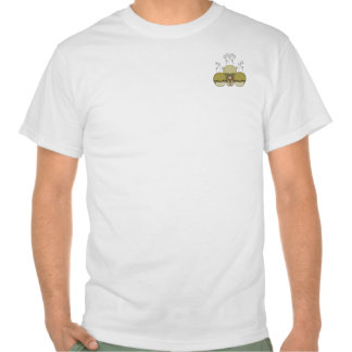 Cute Monster With Yellow Frosted Cupcakes Tee Shirts