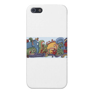 Cute monsters in strange world iPhone 5/5S case