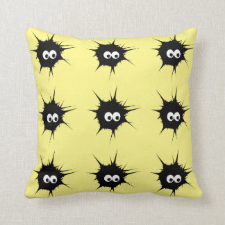 cute monsters throw cushions