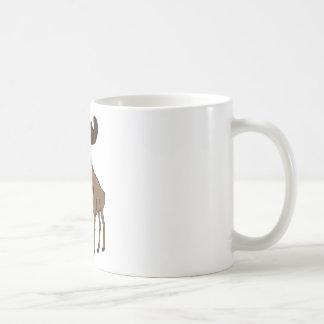 Cute moose basic white mug
