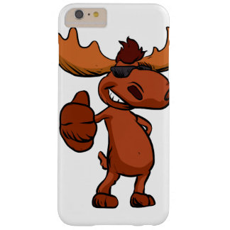 Cute moose cartoon waving. barely there iPhone 6 plus case