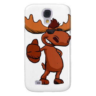 Cute moose cartoon waving. galaxy s4 cover