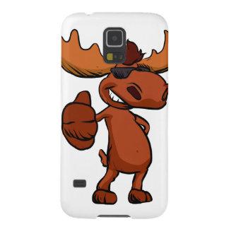 Cute moose cartoon waving. galaxy s5 cases