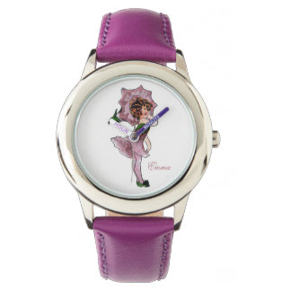 Cute Morning Glory Flower Child Floral Little Girl Watch