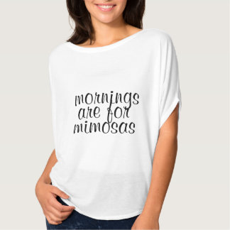 cute mornings are for mimosas funny shirt design