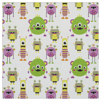 Cute mostres themed for kids fabric